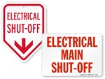 Electrical Shut-Off Signs