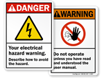 ANSI Electrical Signs