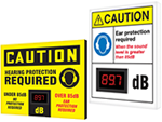 Electronic Decibel Meter Signs