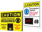 Electronic Decibel Meter Signs
