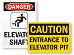 Elevator Pit Signs