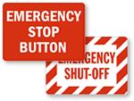 Emergency Stop Switch Label