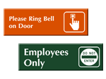Stock Engraved Signs