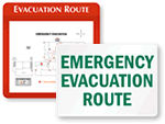 Evacuation Directional Signs
