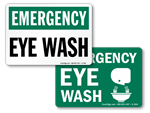 Emergency Eye Wash Signs