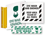 Standard Eye Wash Signs