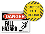 ANSI Fall Hazard Signs