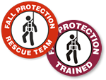 Fall Protection Hard Hat stickers