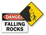 Falling Rocks Signs