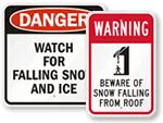 Ice & Snow Warning Signs