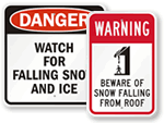 Ice & Snow Warning Signs