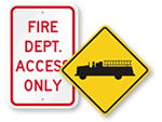 Fire Department Traffic Signs