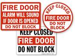 Fire Door Do Not Block Signs