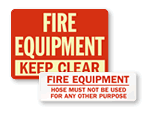 Fire Equipment Signs And Labels