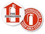 Fire Extinguisher Floor Signs