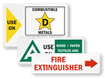 Fire Extinguisher Labels