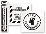 Fire Extinguisher Stencils