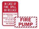 Fire Pump Room Signs