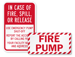 Fire Pump Room Signs