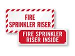 Sprinkler Riser Signs