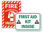 First Aid Labels for Cabs