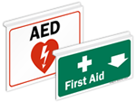 First Aid Ceiling Signs