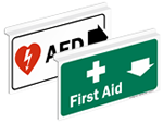 Hanging First Aid Signs