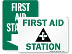 First Aid Station Stickers