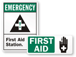 First Aid Stickers - First Aid Labels