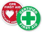 First Aid Triage Area Stickers