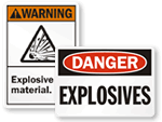 Explosive Materials Signs