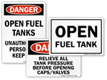 Fuel Tank Signs