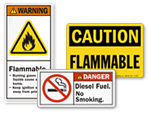 Flammable Material Labels
