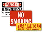 Flammable No Smoking