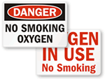 Flammable Oxygen Signs