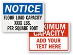 Floor Capacity Signs