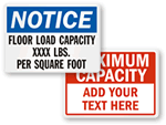 Floor Capacity Signs