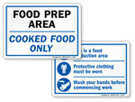 Food Preparation Signs