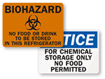 Kitchen & Food Safety Signs