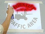 Forklift Safety Stencils