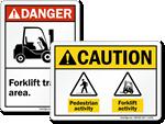 ANSI Forklift Signs