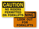 Forklift Warning Signs