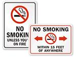 Funny No Smoking Signs