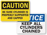 Gas Cylinder Warning Signs