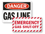 Gas Shut-Off Signs
