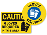 Gloves Signs