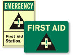 Photoluminescent First Aid Labels