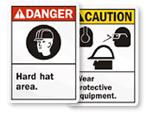 ANSI Hard Hat Signs