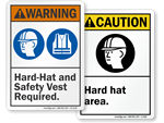 ANSI Hard Hat Signs