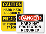 Hard Hats Required Signs